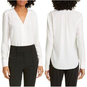Veronica Beard Marella Button Front Silk Blouse